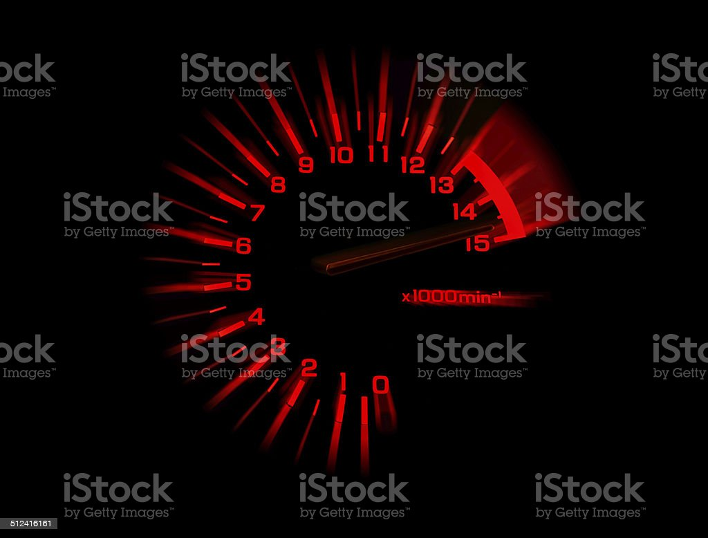 automobile tachometer speedometer stock photo