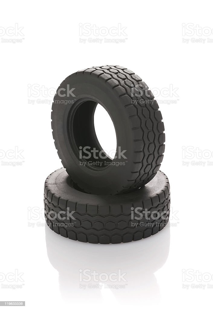 Automobile wheel on a white background royalty-free stock photo