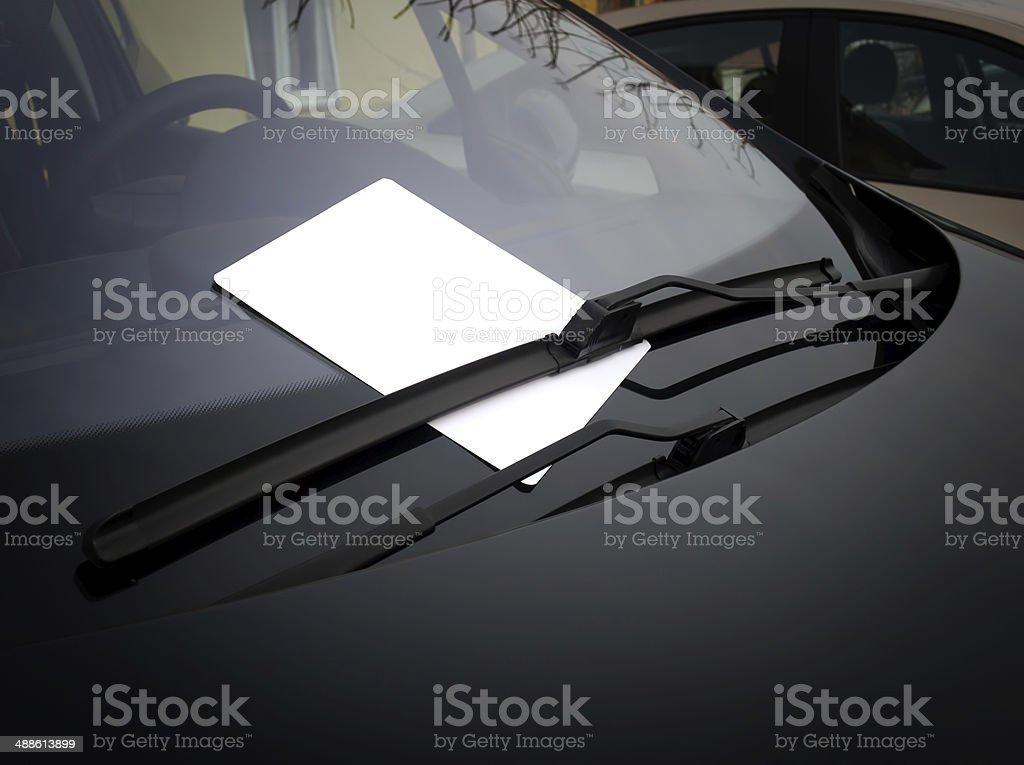 Automotive ad stock photo