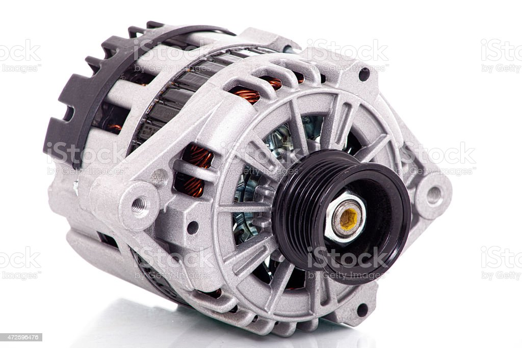 automotive alternator - Stock image stock photo