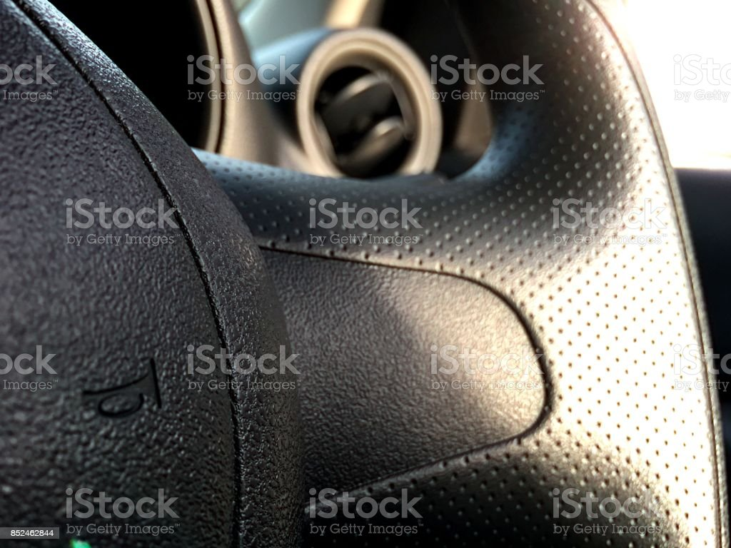 Automotive and car safety concept. View of car panel dashboard and...