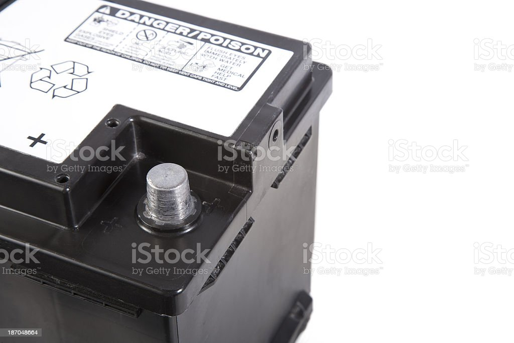 Automotive Battery royalty-free stock photo