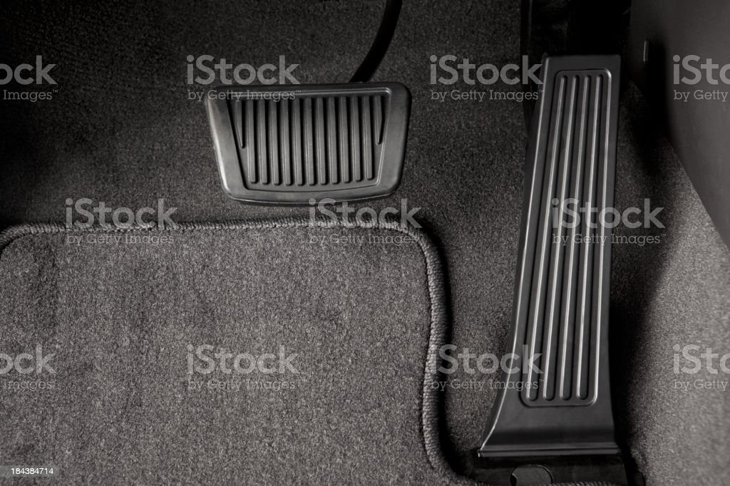 Automotive Brake and Gas Pedal stock photo
