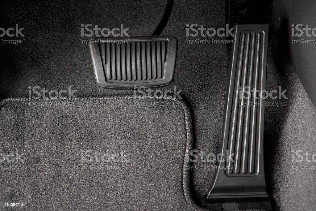 Automotive Brake and Gas Pedal stock photo