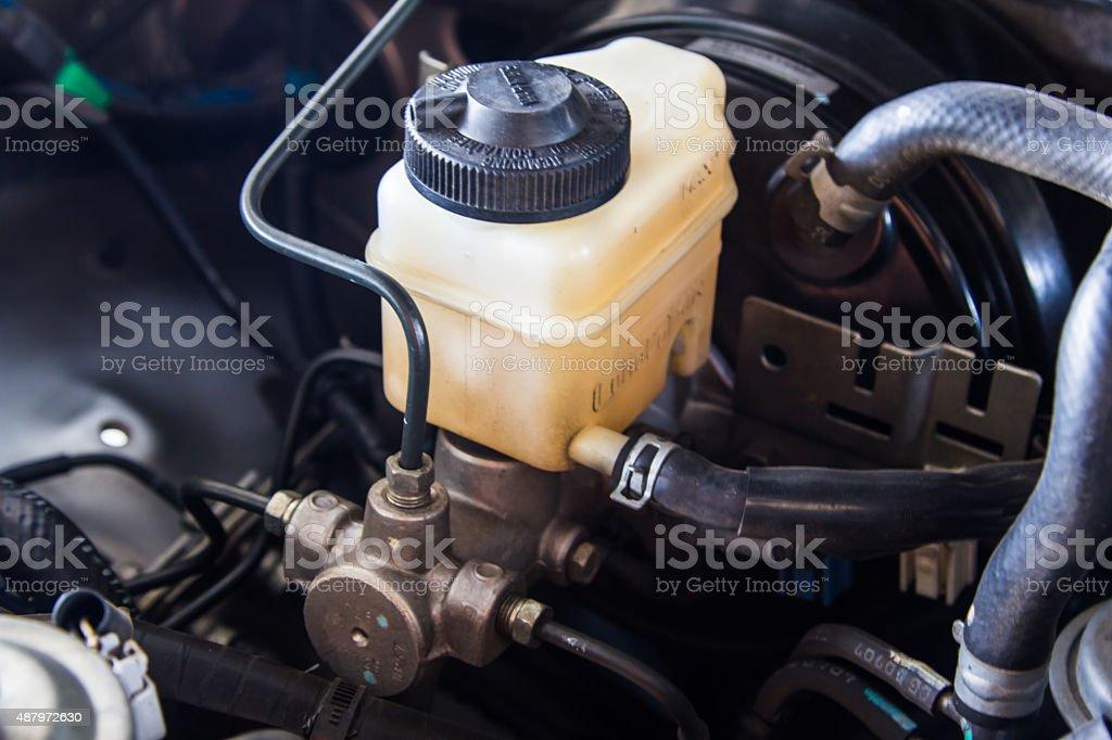 Automotive brake system stock photo