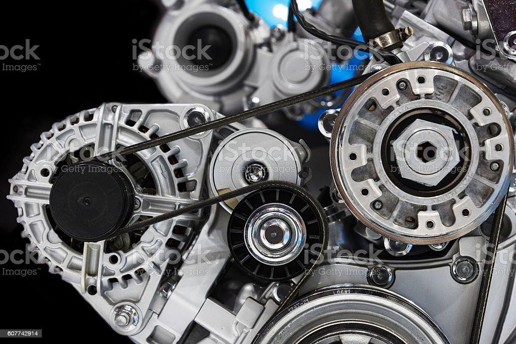 Automotive engine stock photo