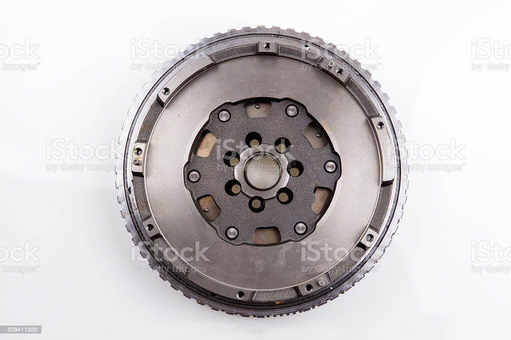 Automotive Flywheel stock photo