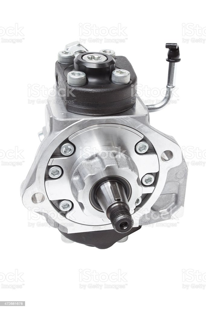 automotive fuel injection pump for diesel engines stock photo