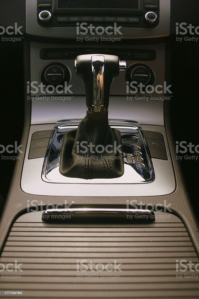 Automobile Gearstick 2 stock photo