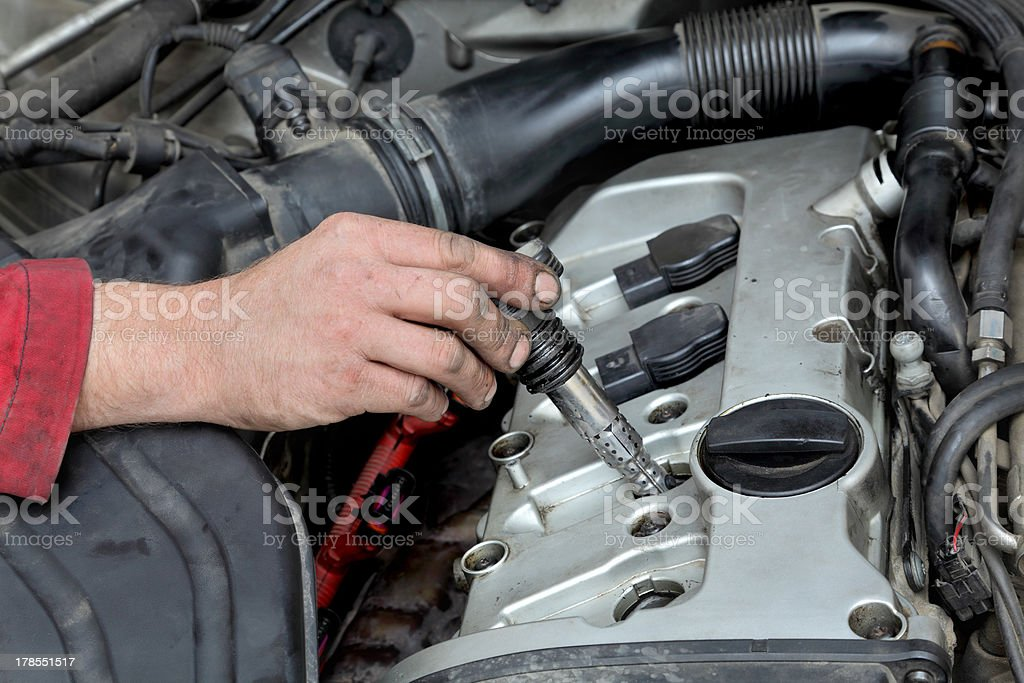 Automotive, ignition coil royalty-free stock photo