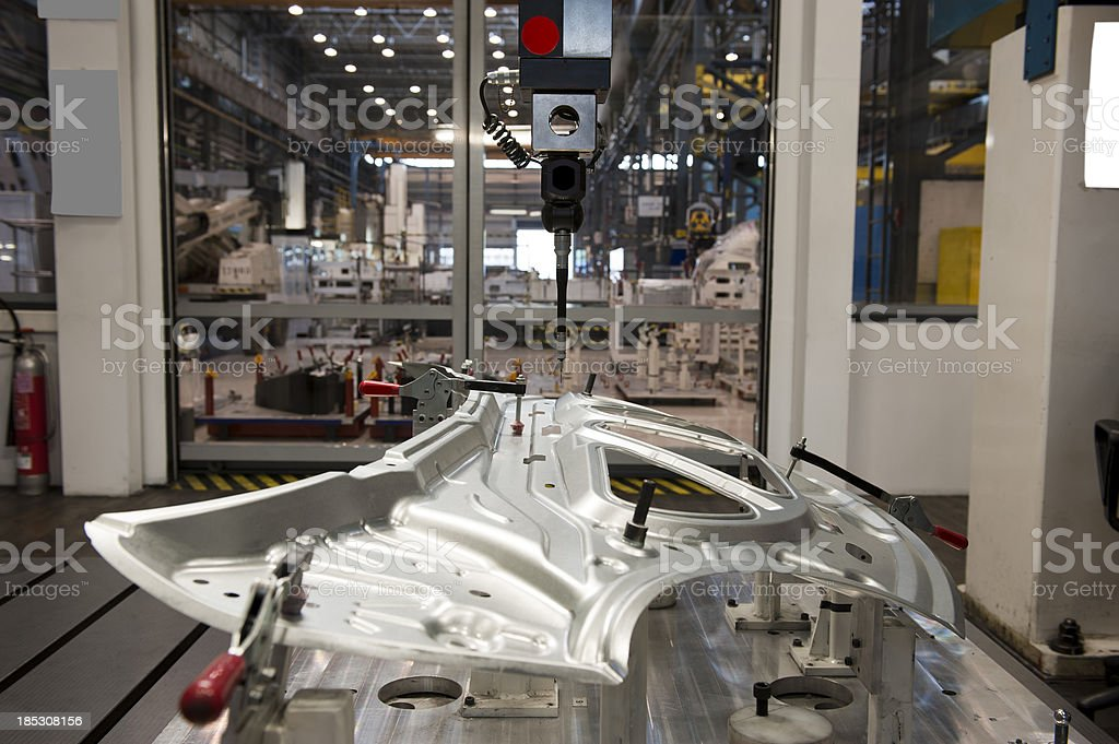 Automotive industry and cnc machine stock photo