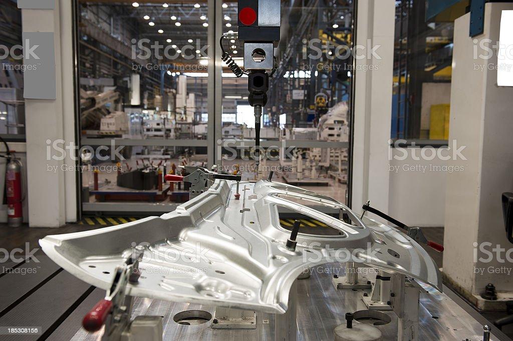 Automotive industry and cnc machine stock photo