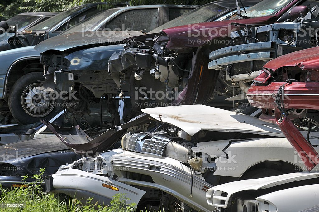 Automotive Junkyard royalty-free stock photo