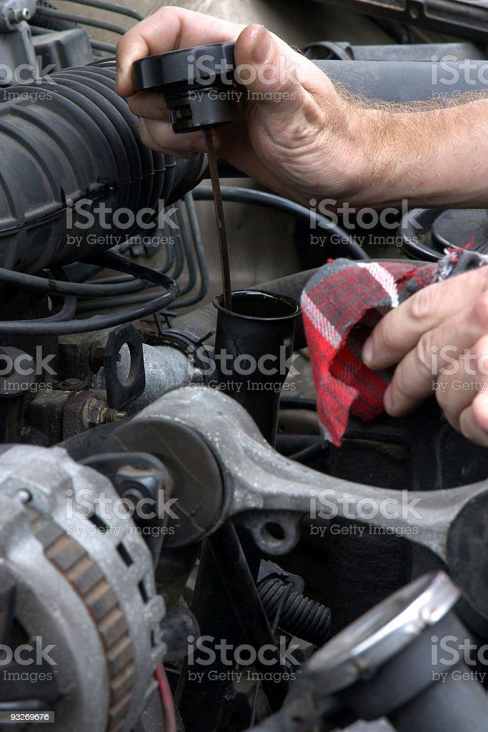 Automotive - Oil Check #1 stock photo