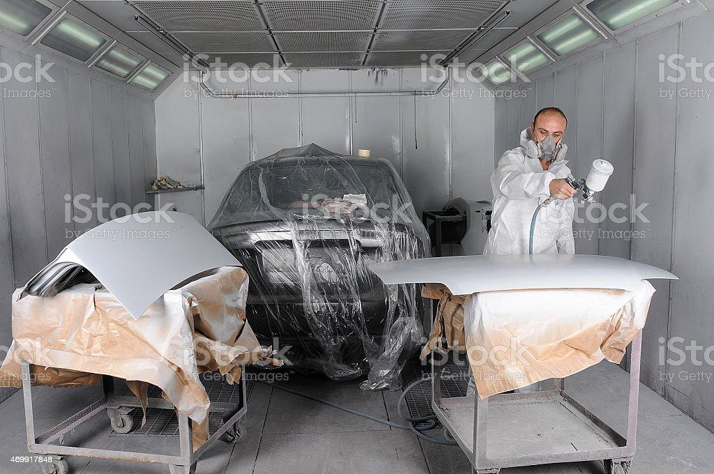 Automotive Paint stock photo