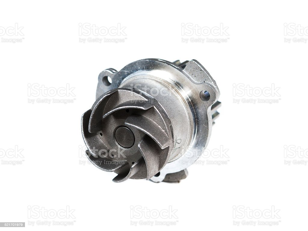 automotive pump isolated on white background stock photo