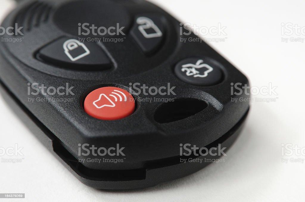Automotive Remote Key Closeup on White stock photo