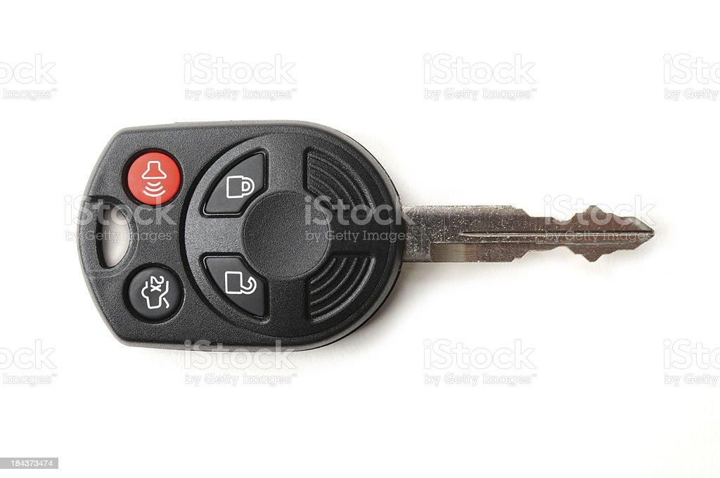 Automotive Remote Key on White stock photo