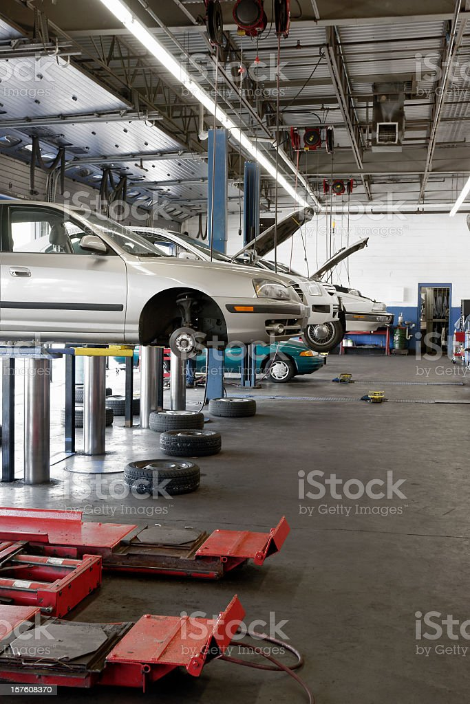Automotive service garage stock photo