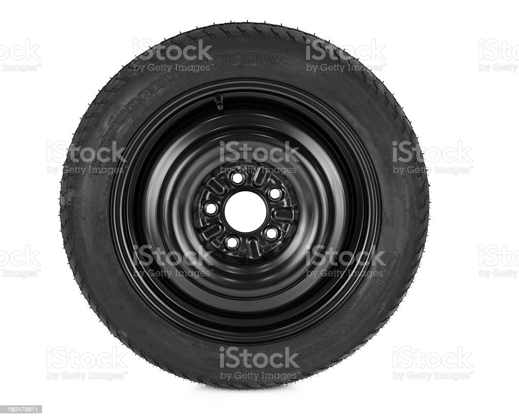 Automotive Spare Tire stock photo