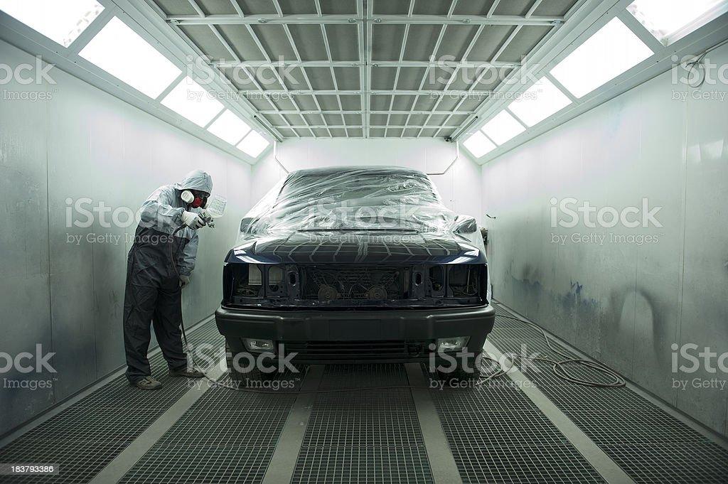 Automotive Spray Painting stock photo