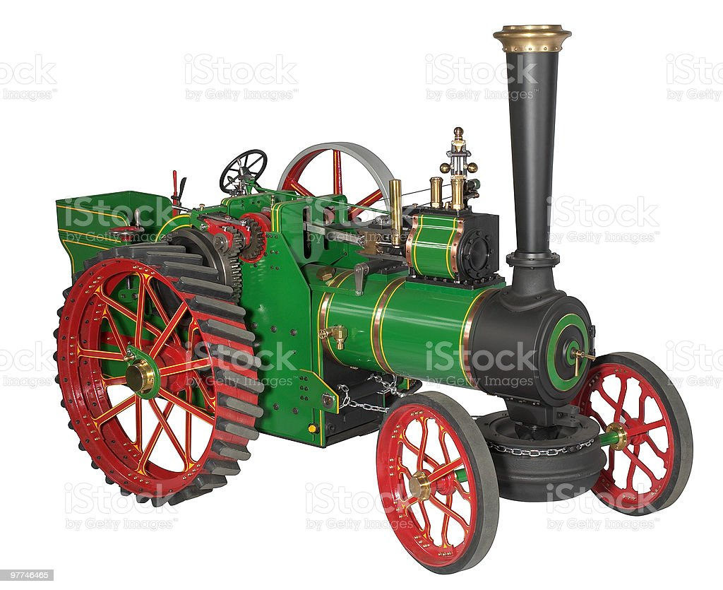 automotive steam engine model stock photo