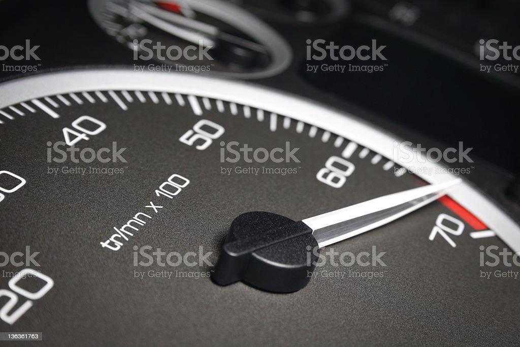 Automotive Tach royalty-free stock photo