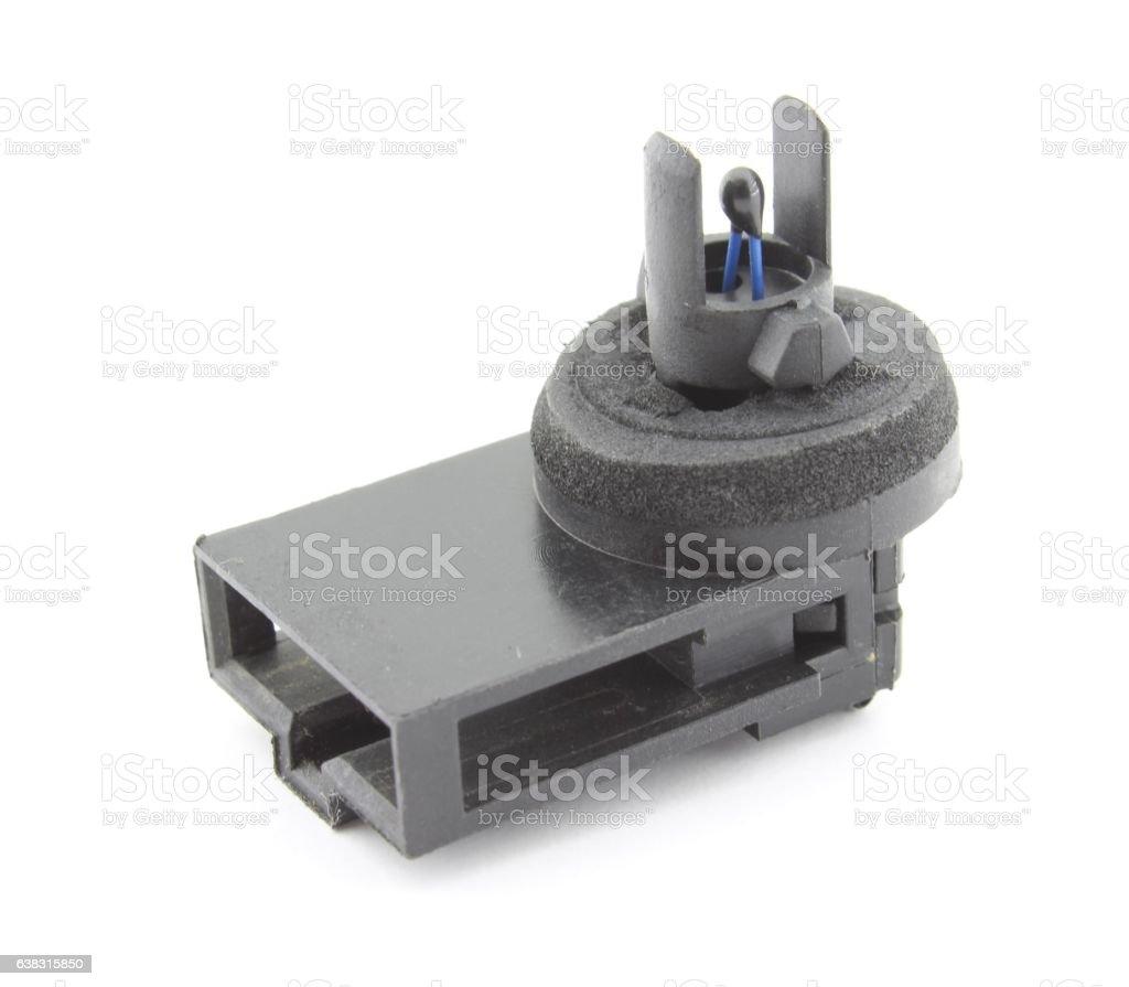 Automotive temperature sensor, isolated on white stock photo