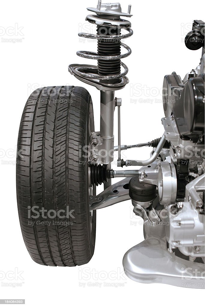 Automotive: Tire and Shocks stock photo