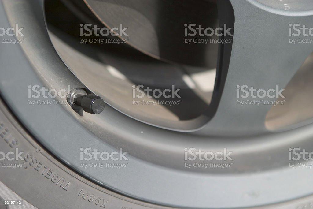 Automotive valve stem stock photo