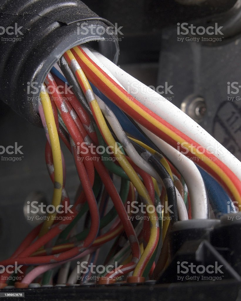 Automotive Wiring royalty-free stock photo