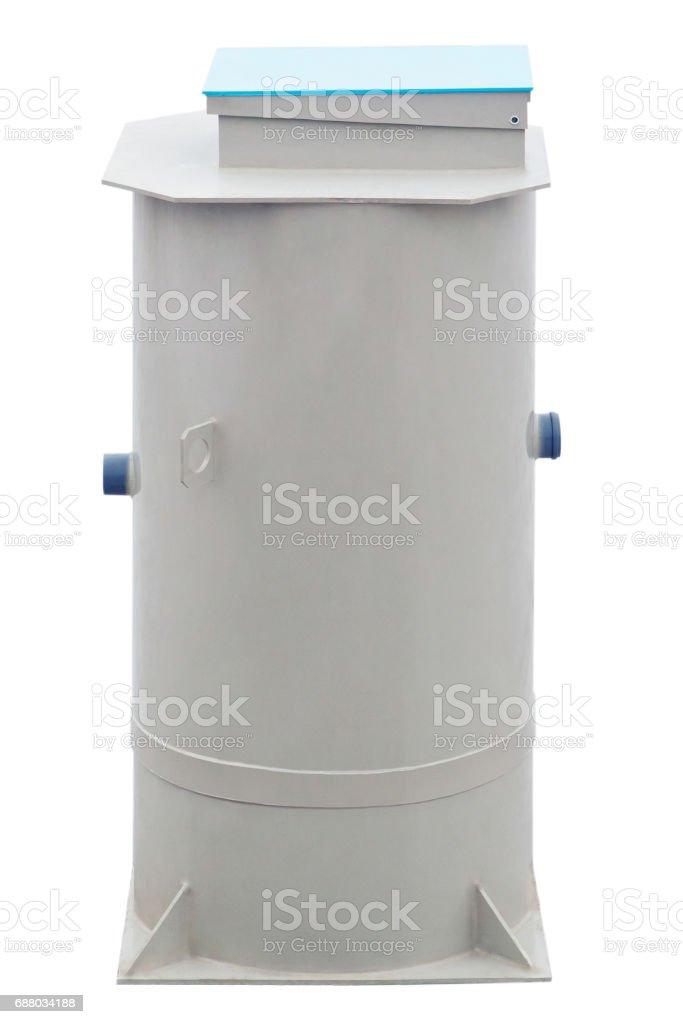 Autonomous sewage system - European septic tank 300L model stock photo