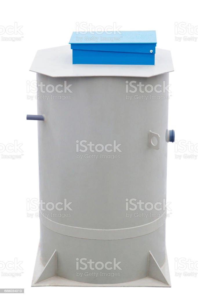 Autonomous sewage system - European septic tank 430L model stock photo