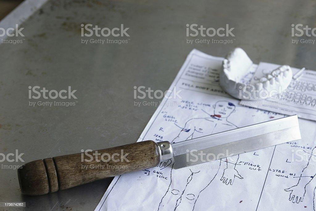 Autopsy stock photo