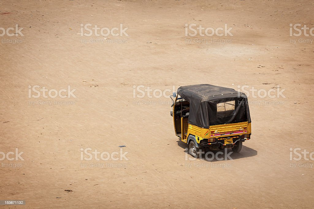 Autorickshaw in the street. India royalty-free stock photo