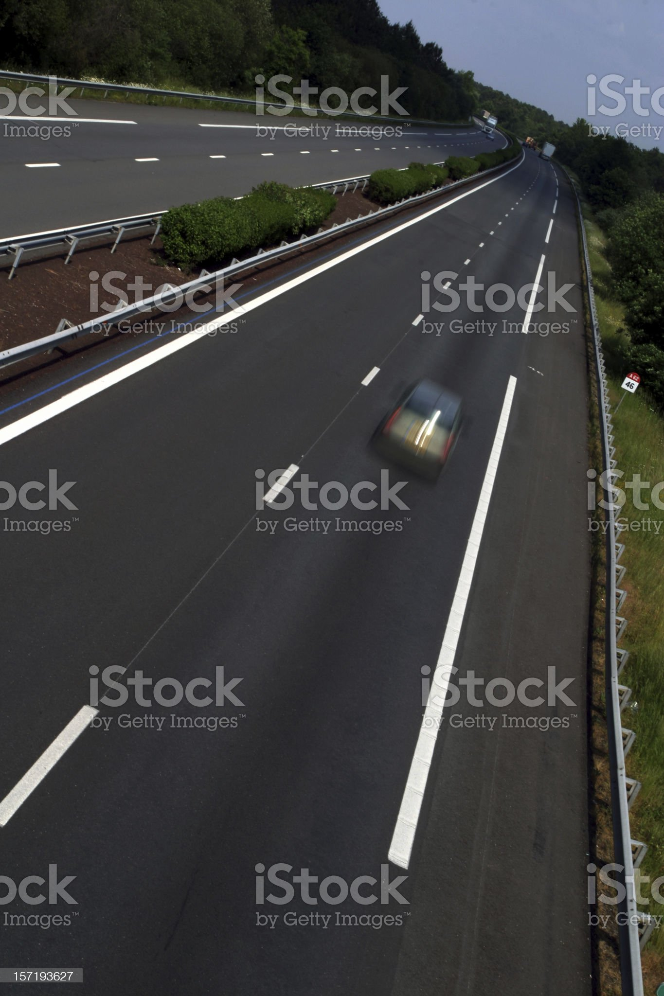 Autoroute, France, angled royalty-free stock photo