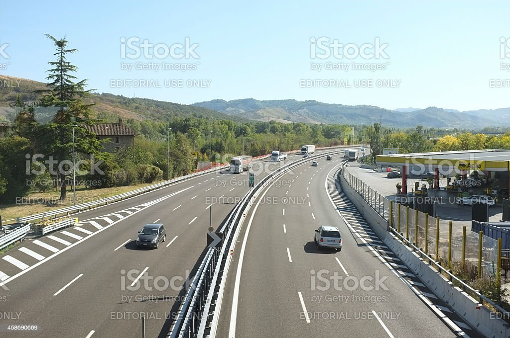A1 - Autostrada del Sole stock photo