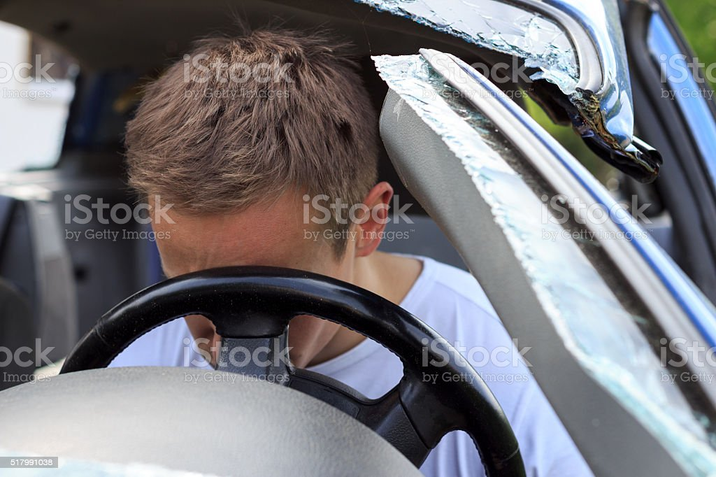 Autounfall stock photo