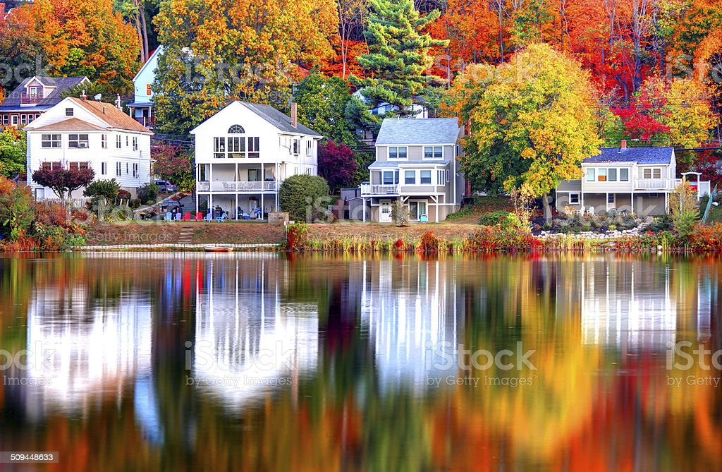 Autum in Boston stock photo