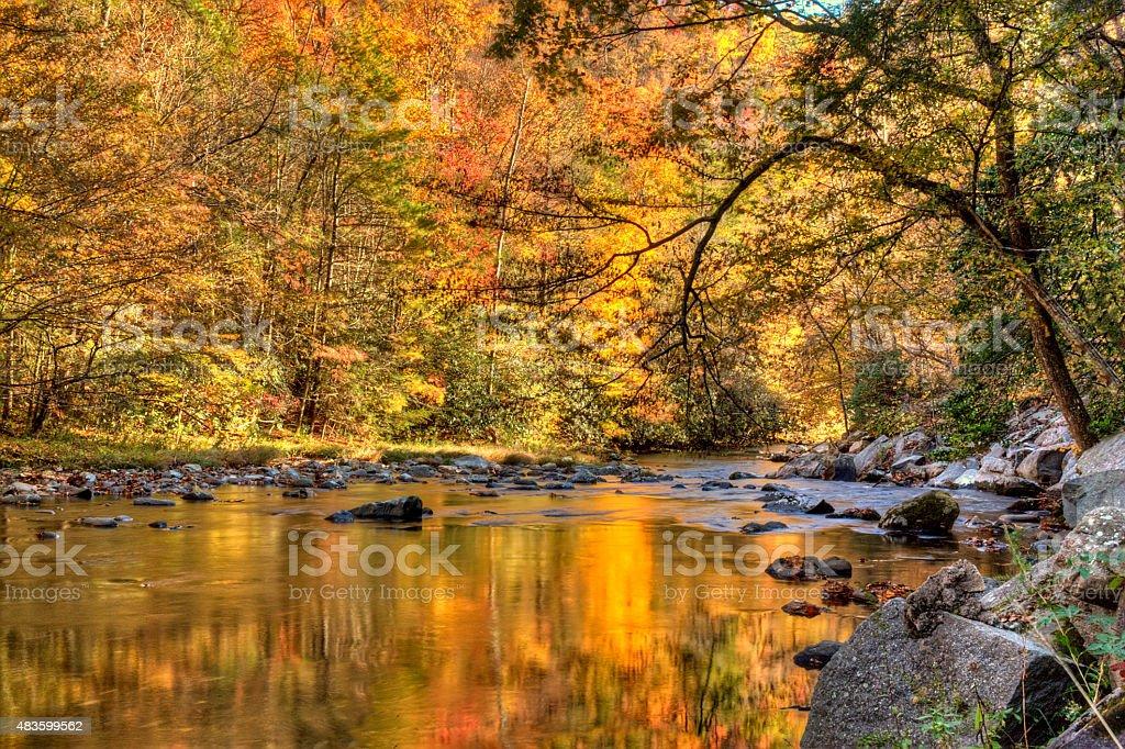 Autumm in the Smoky Mountains stock photo