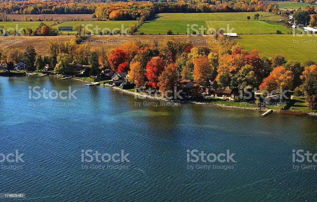 Autumn Aerial Photograph royalty-free stock photo