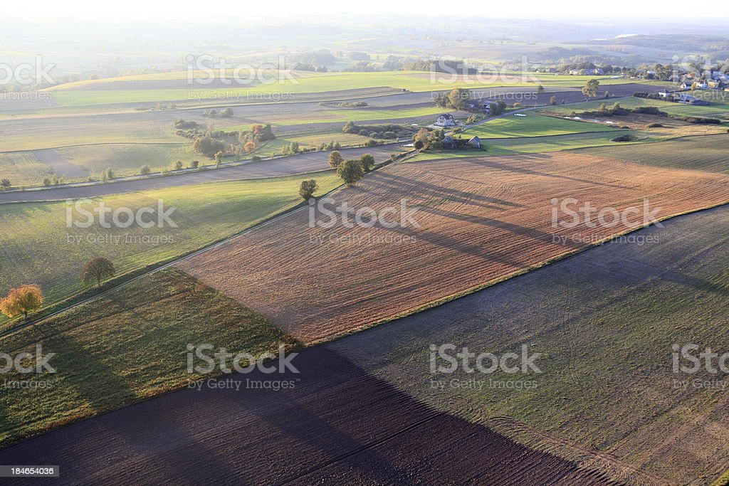 Autumn aerial view royalty-free stock photo