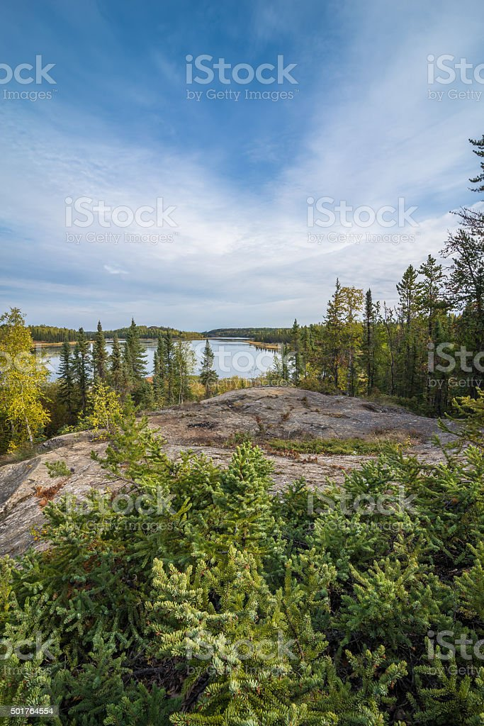 Autumn Afternoon In The NorthWest Territories stock photo