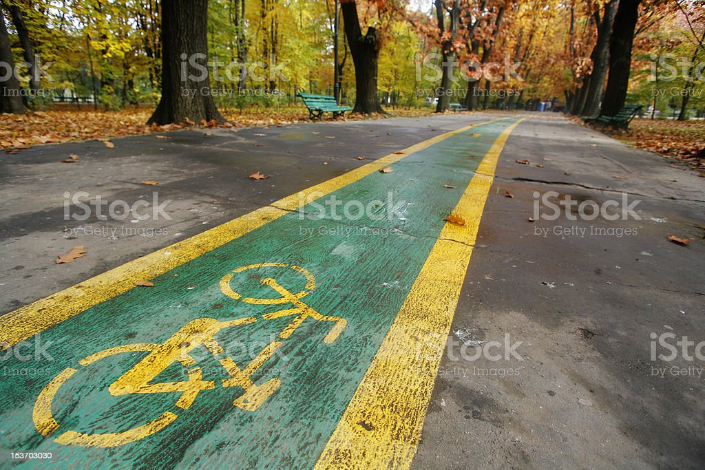 Autumn and a bicycle royalty-free stock photo