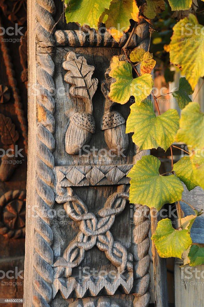 autumn and architecture stock photo