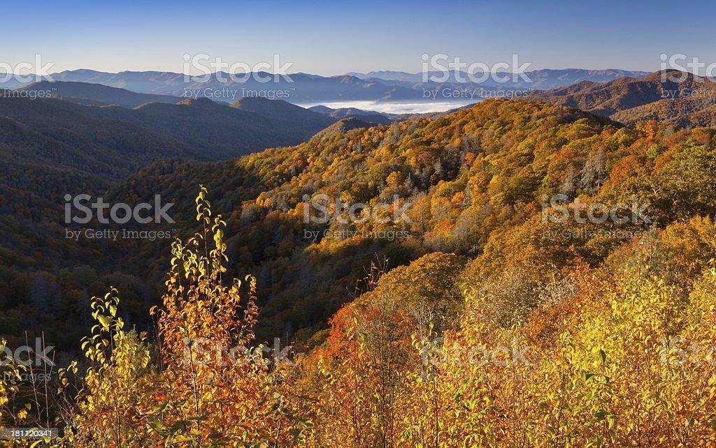 Autumn Appalachian Mountains royalty-free stock photo