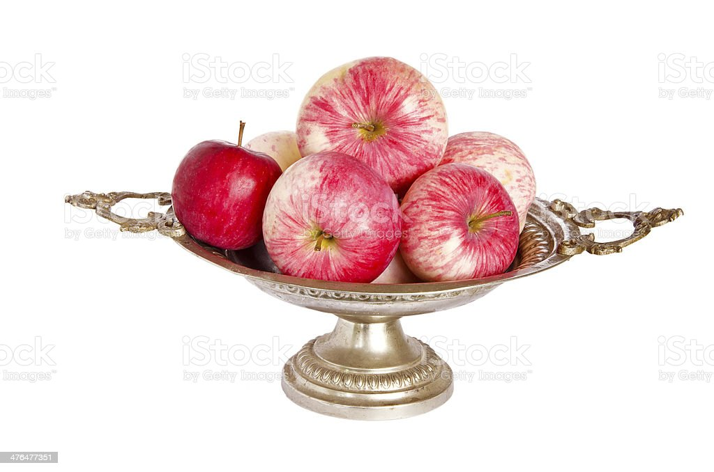 autumn  apples on vintage vase royalty-free stock photo