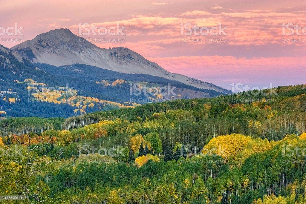 Autumn Aspen and Colorado Mountains royalty-free stock photo