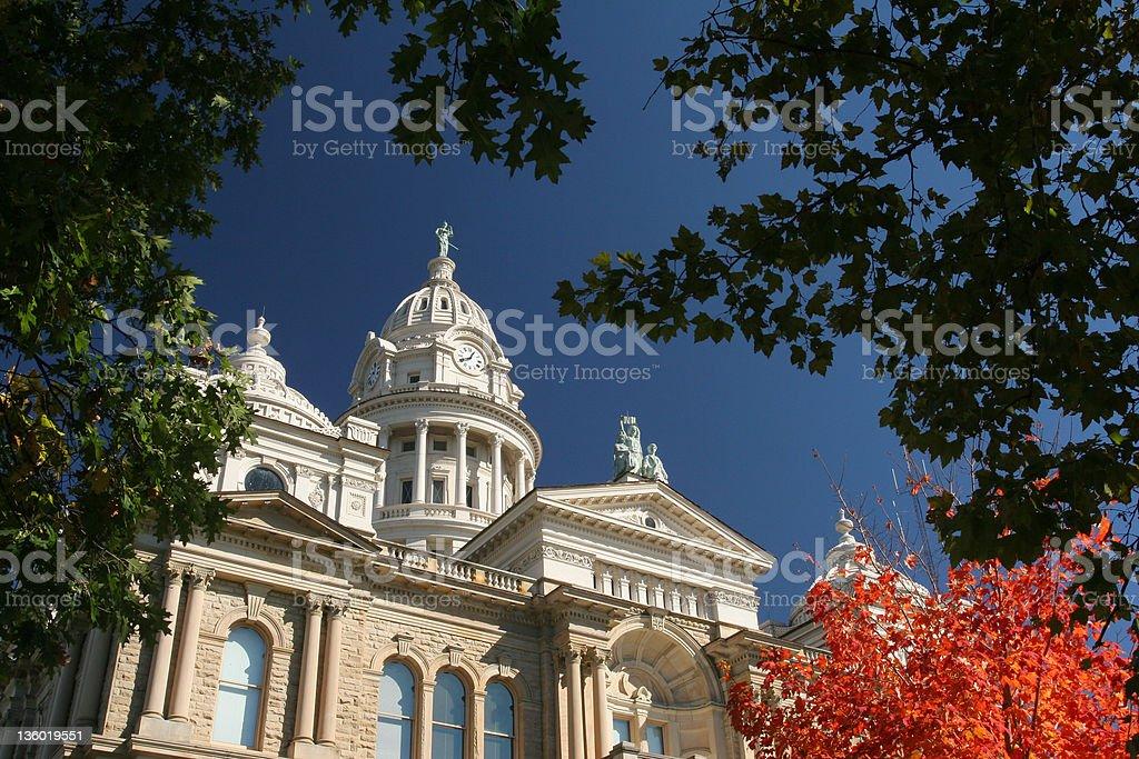 Autumn at Courthouse royalty-free stock photo