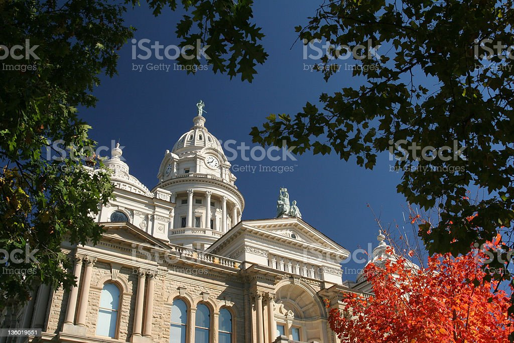Autumn at Courthouse stock photo
